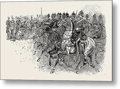 The Review Before Her Majesty At Aldershot Artillery Metal Print