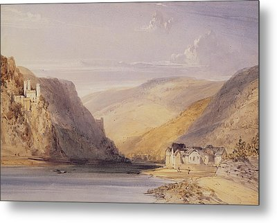 The Rhine At Assmannshausen Metal Print by William Callow