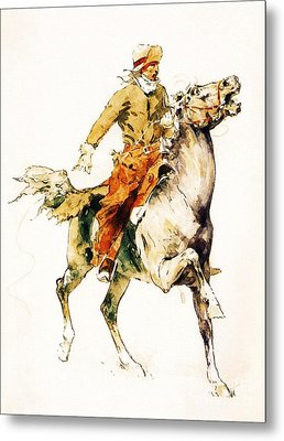 The Rider Metal Print by Pg Reproductions