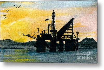 The Rig Metal Print by R Kyllo