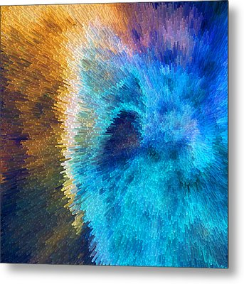 The Right Direction - Abstract Art By Sharon Cummings Metal Print by Sharon Cummings