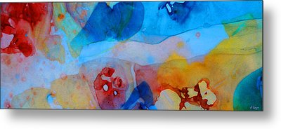 The Right Path - Colorful Abstract Art By Sharon Cummings Metal Print by Sharon Cummings