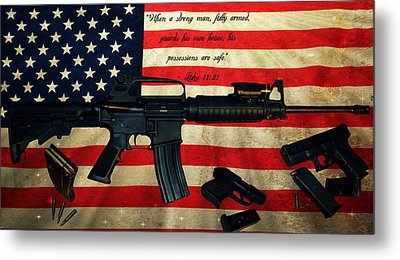The Right To Bear Arms Metal Print