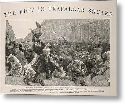 The Riot In Trafalgar Square Metal Print by British Library