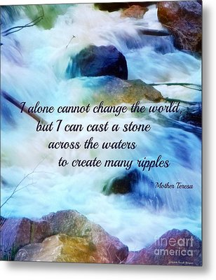 The Ripple Effect Metal Print