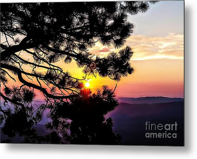 The Rising Sun-2 Metal Print by Nancy Marie Ricketts