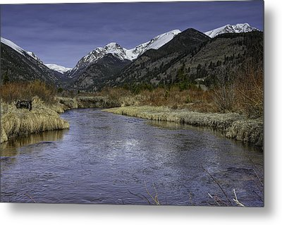 The River Flows Metal Print by Tom Wilbert