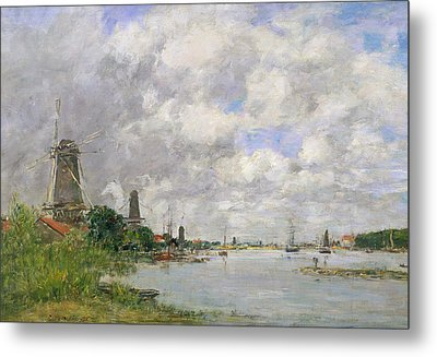 The River Meuse At Dordrecht Metal Print by Eugene Louis Boudin