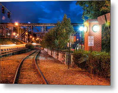 The River Railroad Metal Print