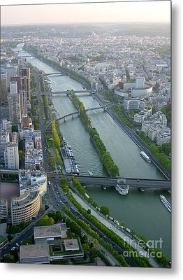 Metal Print featuring the photograph The River Seine by Deborah Smolinske