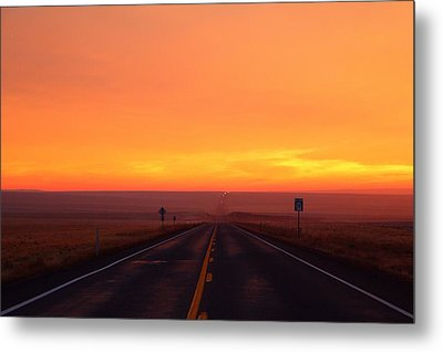 Metal Print featuring the photograph The Road Goes On And On by Lynn Hopwood