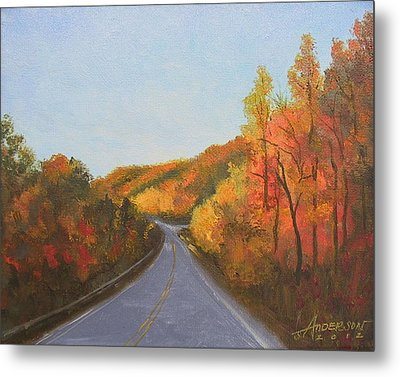 The Road Home Metal Print by Sherri Anderson