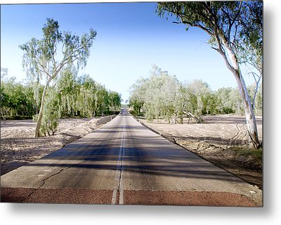 Metal Print featuring the photograph The Road To Back Of Beyond by Holly Kempe