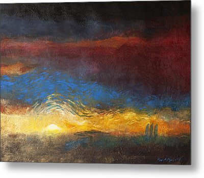 The Road To Emmaus Metal Print by Daniel Bonnell