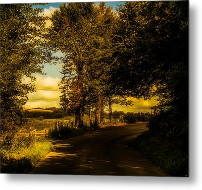 Metal Print featuring the photograph The Road To Litlington by Chris Lord