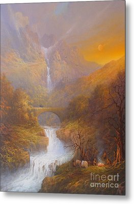 The Road To Rivendell The Lord Of The Rings Tolkien Inspired Art  Metal Print by Joe  Gilronan