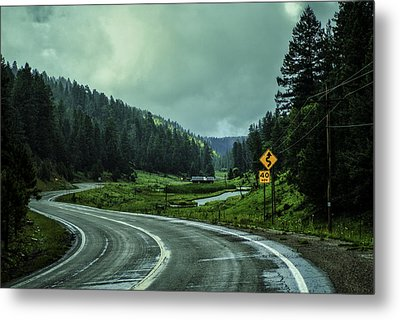 The Road To Silver Lake Metal Print