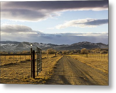 The Road To The Mountains Metal Print by Dana Moyer