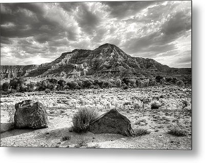 Metal Print featuring the photograph The Road To Zion In Black And White by Tammy Wetzel
