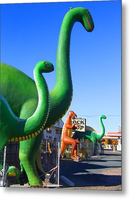 The Rock Shop Just Off Route 66 Metal Print by Mike McGlothlen