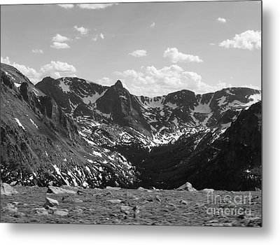 The Rockies Monochrome Metal Print by Barbara Bardzik