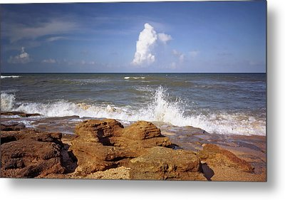 The Rocks V. Flagler County. Metal Print by Chris  Kusik