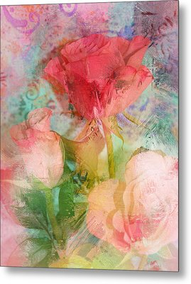The Romance Of Roses Metal Print by Carla Parris
