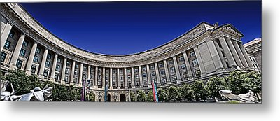 The Ronald Reagan Building And International Trade Center Metal Print by Tom Gari Gallery-Three-Photography