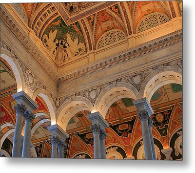 The Roof Above Jefferson's Books  Metal Print