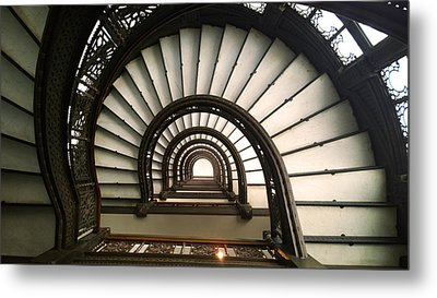 The Rookery Staircase Lasalle St Chicago Illinois Metal Print by Kelly Hazel