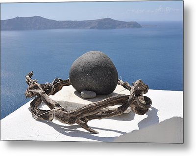 The Root Of Santorini Metal Print by Kathy Schumann