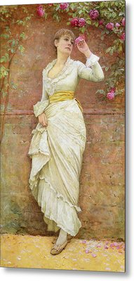 The Rose Metal Print by Edward Killingworth Johnson