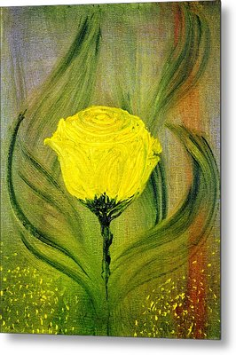 Metal Print featuring the painting The Rose by Evelina Popilian