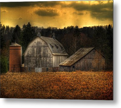 The Rose Farm Metal Print
