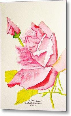 The Rose Metal Print by Robert  ARTSYBOB Havens