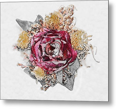 The Rose Metal Print by Susan Leggett