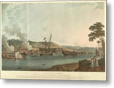 The Royal Dockyard At Chatham Metal Print by British Library