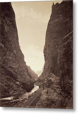 The Royal Gorge, Grand Cañon Of The Arkansas William Henry Metal Print by Litz Collection