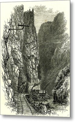 The Royal Gorge Of The Arkansas 1891 Usa Metal Print by American School