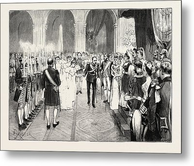 The Royal Marriage At Berlin, Germany Torch-dance Metal Print