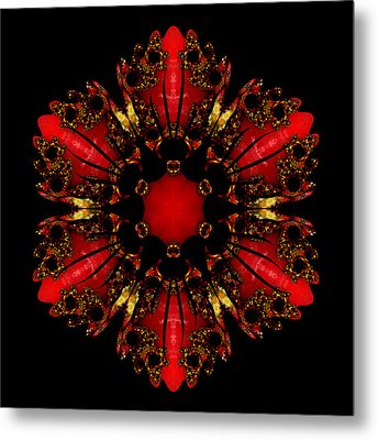 The Ruby Flame Broach Metal Print by Owlspook