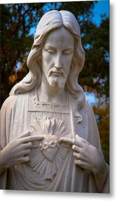 The Sacred Heart Metal Print by Linda Unger