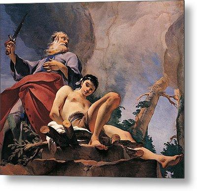 The Sacrifice Of Isaac Metal Print by Giovanni Battista Tiepolo