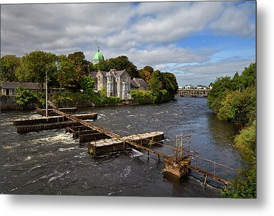 The Salmon Weir On The River Metal Print by Panoramic Images
