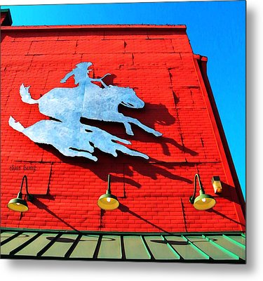 The Saloon Metal Print by Chris Berry
