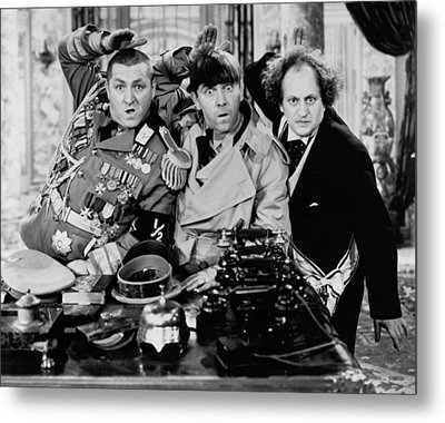 The Salute Metal Print by The Three Stooges