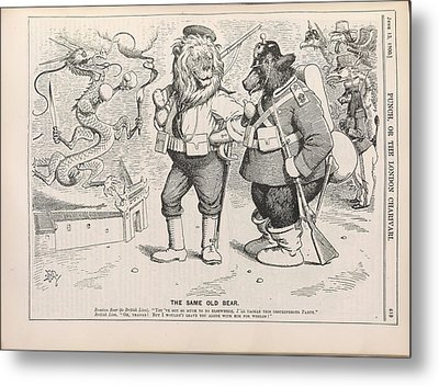 The Same Old Bear Metal Print by British Library