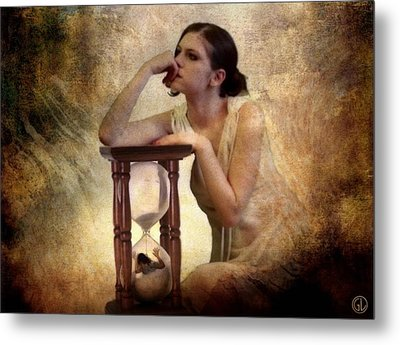 The Sandglass Metal Print