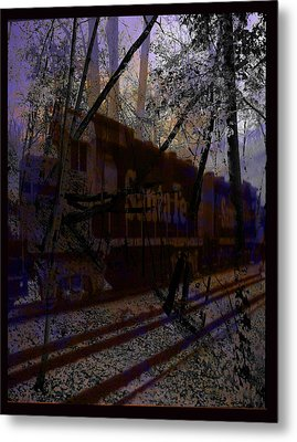 Metal Print featuring the digital art The Santa Fe by Cathy Anderson
