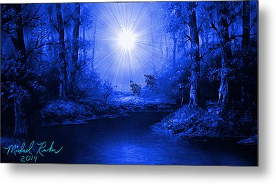 The Sapphire Forest Metal Print by Michael Rucker